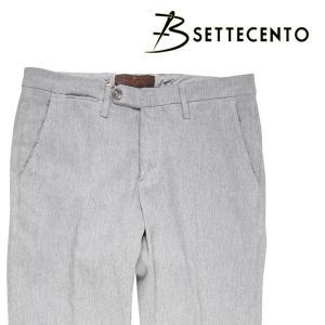 B SETTECENTO パンツ メンズ 秋冬 29/S グレー 灰色 ビーセッテチェント 並行輸入品|utsubostock