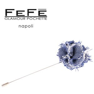 FEFE ラペルピン メンズ ネイビー 紺 フェフェグラマー 並行輸入品|utsubostock