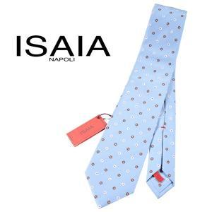 ISAIA ネクタイ メンズ ブルー 青 シルク100% イザイア 並行輸入品|utsubostock
