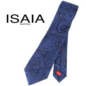 ISAIA ネクタイ メンズ ネイビー 紺 シルク100% イザイア 並行輸入品|utsubostock
