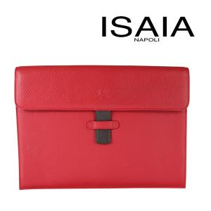 ISAIA レザー クラッチバッグ red【A14209】_amz|utsubostock