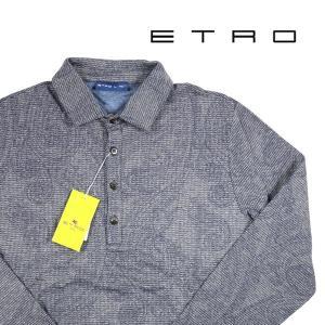 ETRO 長袖ポロシャツ メンズ L/48 ネイビー 紺 エトロ 並行輸入品|utsubostock