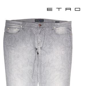 ETRO ジーンズ メンズ グレー 灰色 エトロ 並行輸入品|utsubostock