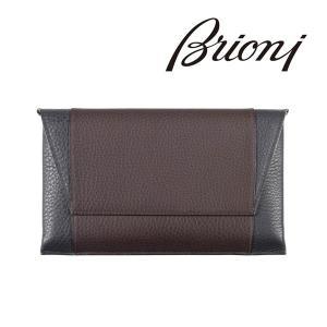 Brioni 財布 メンズ ブラウン 茶 レザー  ブリオーニ 並行輸入品|utsubostock