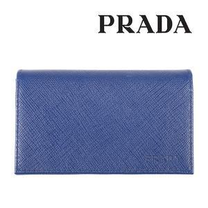 PRADA 名刺入れ メンズ ブルー 青 2MC122 プラダ 並行輸入品|utsubostock