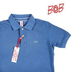 【XS】 BOB ボブ 半袖ポロシャツ BACK DIS122 メンズ 春夏 鳥柄 ブルー 青 並行輸入品 トップス utsubostock