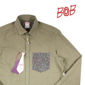 BOB 長袖シャツ TUTOR97 T97A36 khaki(1) S 14347K1【A14347】 ボブ|utsubostock