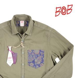 BOB 長袖シャツ TUTOR97 T97A36 khaki(2) M 14347K2【A14348】 ボブ|utsubostock