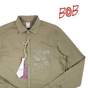 BOB 長袖シャツ TUTOR97 T97A36 khaki(3) L 14347K3【A14349】 ボブ|utsubostock