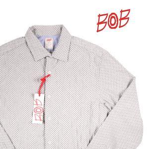 BOB ドット 長袖シャツ TRAP UNICA gray M【A14351】 ボブ|utsubostock