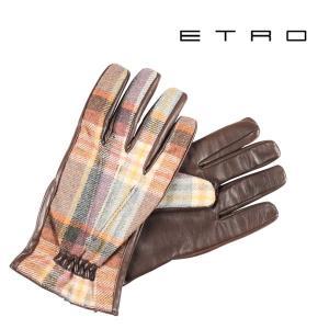 ETRO グローブ メンズ 秋冬 マルチカラー エトロ 並行輸入品|utsubostock