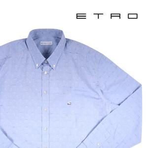 ETRO 長袖シャツ メンズ 44/4XL ブルー 青 エトロ 大きいサイズ 並行輸入品|utsubostock