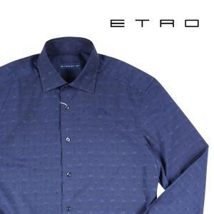 ETRO 長袖シャツ navy 37 14408N【A14408】|utsubostock