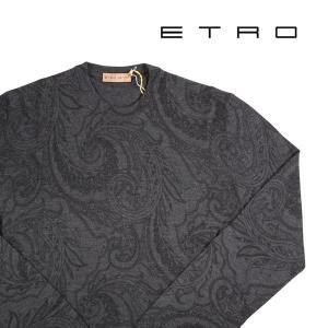【XS】 ETRO エトロ 丸首セーター メンズ 秋冬 ペイズリー グレー 灰色 並行輸入品 ニット|utsubostock