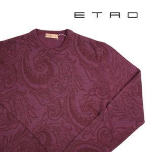 【XS】 ETRO エトロ 丸首セーター メンズ 秋冬 ペイズリー レッド 赤 並行輸入品 ニット|utsubostock