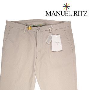 Manuel Ritz コットンパンツ メンズ 春夏 56/4XL ベージュ マニュエル リッツ 大きいサイズ 並行輸入品|utsubostock
