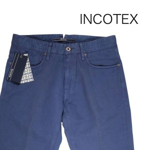 INCOTEX コットンパンツ SKYC 90640 navy 34 14439【S14442】 インコテックス|utsubostock