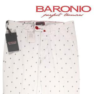 BARONIO カラーパンツ メンズ 春夏 33/XL ホワイト 白 バロニオ 並行輸入品|utsubostock