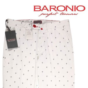 【33】 BARONIO バロニオ カラーパンツ メンズ 春夏 ホワイト 白 並行輸入品 ズボン|utsubostock