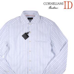 CORNELIANI ID 長袖シャツ メンズ 春夏 40/L ホワイト 白 リネン混 コルネリアーニ アイディー 並行輸入品|utsubostock