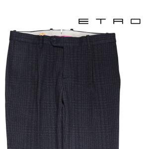ETRO スラックス メンズ 秋冬 48/L ネイビー 紺 エトロ 並行輸入品|utsubostock