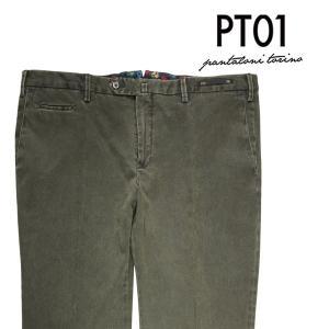 PT01 コットンパンツ メンズ 56/4XL グリーン 緑 TU10 COVLINT010 ピーティー ゼロウーノ 大きいサイズ 並行輸入品|utsubostock