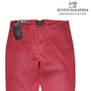 SCOTCH&SODA コーデュロイパンツ メンズ 秋冬 28/S レッド 赤 スコッチアンドソーダ 並行輸入品|utsubostock
