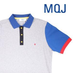 MQJ 半袖ポロシャツ メンズ 春夏 M/46 グレー 灰色 エムキュージェイ 並行輸入品|utsubostock