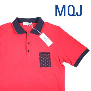 MQJ 半袖ポロシャツ メンズ 春夏 XL/50 レッド 赤 エムキュージェイ 並行輸入品|utsubostock