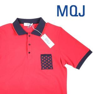 MQJ 半袖ポロシャツ メンズ 春夏 XXL/52 レッド 赤 エムキュージェイ 大きいサイズ 並行輸入品|utsubostock