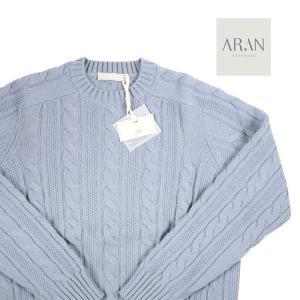 ARAN CASHMERE 丸首セーター メンズ 秋冬 52/2XL ブルー 青 カシミヤ100% アラン カシミア 大きいサイズ 並行輸入品|utsubostock