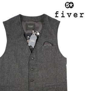fiver ジレ メンズ M/46 ブラック 黒 ファイバー 並行輸入品|utsubostock