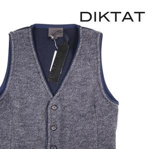 【L】 DIKTAT ディクタット ジレ メンズ 秋冬 ネイビー 紺 並行輸入品 ベスト|utsubostock