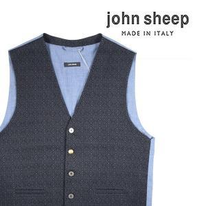 【50】 john sheep ジョン・シープ ジレ メンズ 秋冬 ネイビー 紺 並行輸入品 ベスト|utsubostock