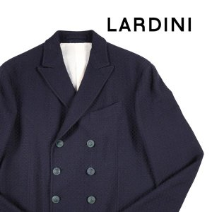 LARDINI ダブルジャケット メンズ 秋冬 52/2XL ネイビー 紺 ラルディーニ 大きいサイズ 並行輸入品|utsubostock