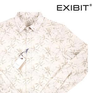 【S】 EXIBIT エグジビット 長袖シャツ メンズ 春夏 ベージュ 並行輸入品 カジュアルシャツ utsubostock
