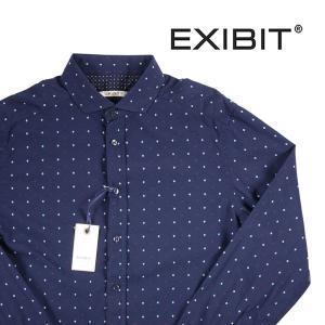EXIBIT 長袖シャツ メンズ M/46 ネイビー 紺 エグジビット 並行輸入品|utsubostock