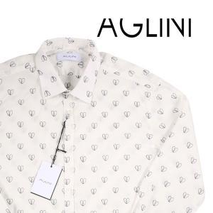 【39】 AGLINI アリーニ 長袖シャツ メンズ ハート ホワイト 白 並行輸入品 カジュアルシャツ|utsubostock