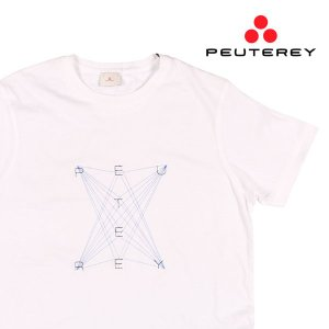 【L】 PEUTEREY ピューテリー Uネック半袖Tシャツ UBANI C メンズ 春夏 ホワイト 白 並行輸入品 トップス|utsubostock