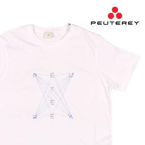 【M】 PEUTEREY ピューテリー Uネック半袖Tシャツ UBANI C メンズ 春夏 ホワイト 白 並行輸入品 トップス|utsubostock