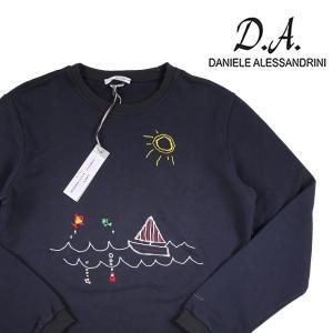 【L】 DANIELE ALESSANDRINI ダニエレアレッサンドリーニ トレーナー メンズ 刺繍 ネイビー 紺 並行輸入品|utsubostock