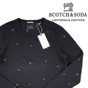 SCOTCH&SODA ヤシの木柄 トレーナー 136417 navy XL 14927N【A14930】|utsubostock