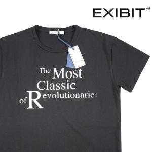 【L】 EXIBIT エグジビット Uネック半袖Tシャツ メンズ ブラック 黒 並行輸入品 トップス|utsubostock