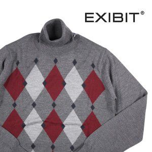 EXIBIT タートルネックセーター メンズ 秋冬 L/48 グレー 灰色 エグジビット 並行輸入品|utsubostock