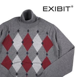 EXIBIT タートルネックセーター メンズ 秋冬 M/46 グレー 灰色 エグジビット 並行輸入品|utsubostock