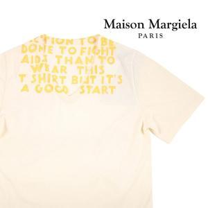 Martin Margiela Vネック半袖Tシャツ メンズ 春夏 S/44 ホワイト 白  マルタンマルジェラ 並行輸入品|utsubostock