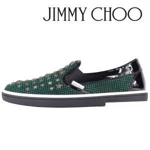 JIMMY CHOO スリッポン メンズ 41/25.5cm グリーン 緑 GROVE41 WSX ジミーチュー 並行輸入品|utsubostock