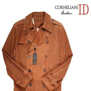 Corneliani ID コート メンズ 秋冬 50/XL ブラウン 茶 レザー コルネリアーニ アイディー 並行輸入品|utsubostock