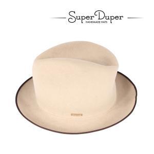 Super Duper ハット メンズ 秋冬 ベージュ ハンドメイド スーパードゥーパー 並行輸入品|utsubostock