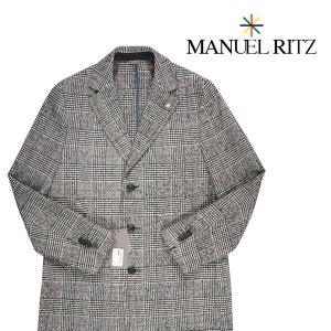Manuel Ritz コート メンズ 秋冬 50/XL グレー 灰色 マニュエル リッツ 並行輸入品|utsubostock